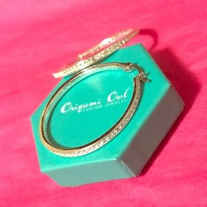 Origami Owl Hoop Earrings